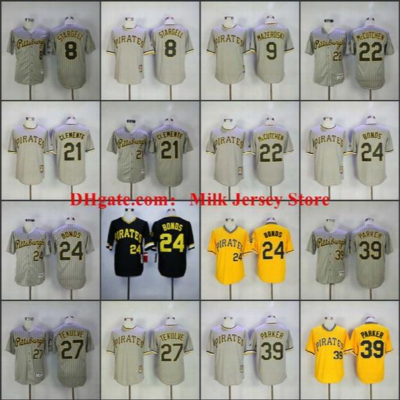 Pittsburgh Pirates Throwback Jersey Willie Stargell Andrew Mccutchen Bill Mazeroski Roberto Clemente Barry Bonds Dave Parker Kent Tekulve