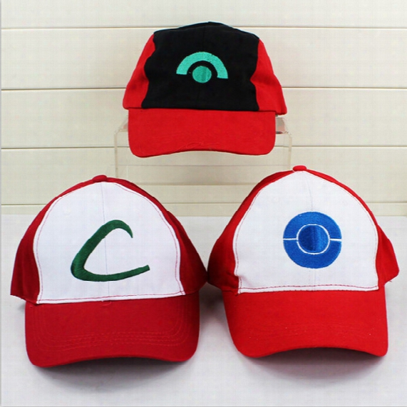 Poke Ash Ketchum Costume Cosplay Mesh Cap Hat Poke Mesh Ash Baseball Hat For Gift Free Shipping