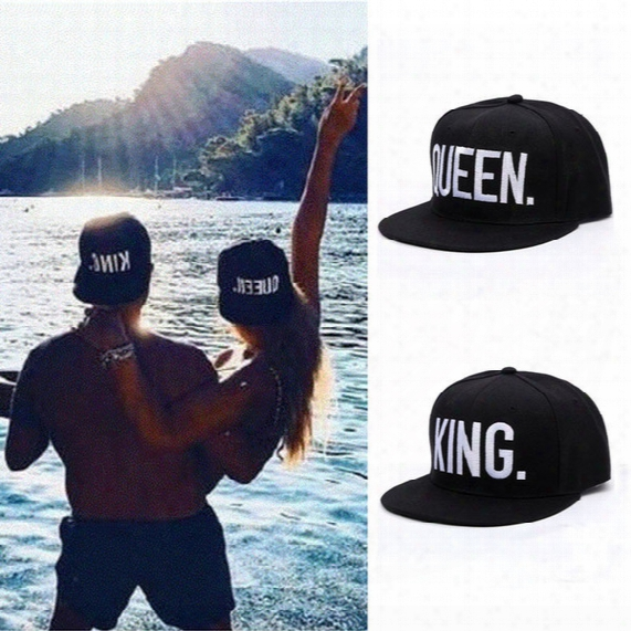 Queen+king 2pcs Baseball Sports Caps Hip Hop Snapback Hat Lovers Couple Gift