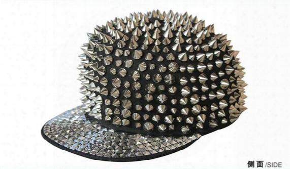 Silver Spiek Studs Hats Snapback Baseball Hat Punk Style Hiphop Caps Men Baseball Cap B-boy Cap Punk Style Caps