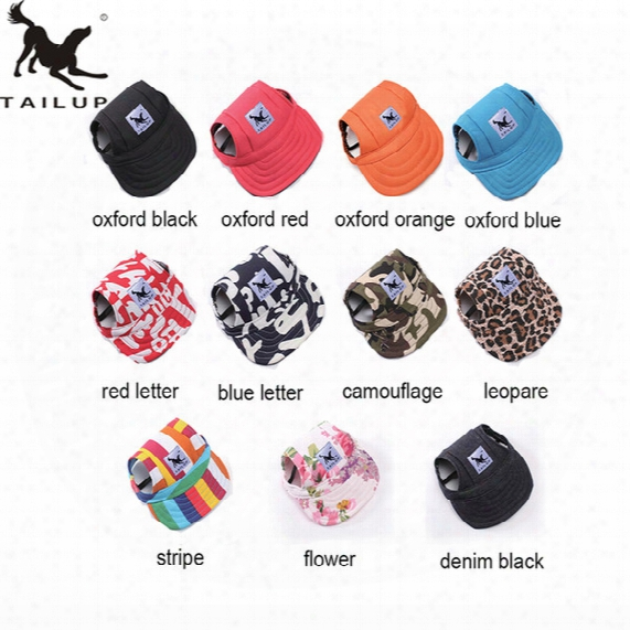 Tailup 2017 Hot Sale Sun Hat For Dogs Cute Pet Casual Cotton Baseball Cap Chihuahua Yorkshire Pet Products 11colors