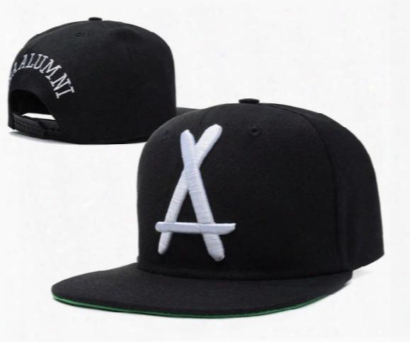 Tha Alumni Snapback Big White A Adjustable Hats , Cheap Men's And Women Sports Baseball Caps , Flat Brim Hip Hop Cap