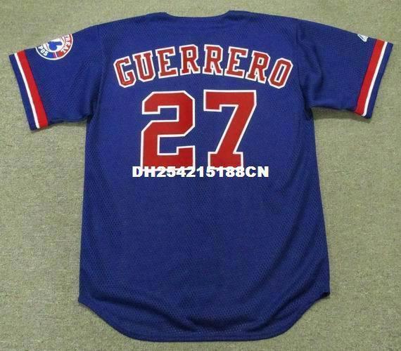 Throwback #27 Vladimir Guerrero Montreal Expos 2002 Retro Jerseys Throwback Embroidery Men's Baseball Jersey