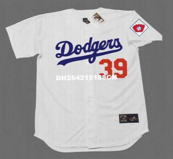 Throwback #39 Roy Campanella Jerseys Brooklyn Dodgers 1951 Cooperstown Home Embroidery Men's Baseball Jersey