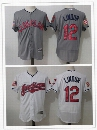 2017 Men's Cleveland Indians #12 grey White Elite Edition Baseball Jerseys size(M to XXXL)