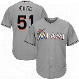 2017 Men's Miami Marlins 3 Adeiny Hechavarria 9 Dee Gordon 51 Ichiro Suzuki cool base flesbase Baseball Jersey Stitched s-6xl