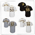 2017 Men's Pittsburgh Pirates 50 Jameson Taillon 55 Josh Bell 57 Trevor Williams 59 Antonio Bastardo Jersey Size S-6XL