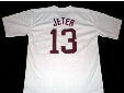 30 Teams- Derek Jeter Jersey, #13 DEREK JETER KALAMAZOO HIGH SCHOOL JERSEY, Men's Stitched Throwback Baseball Jerseys Red/White S-3XL