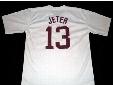 30 Teams- Derek Jeter Jersey, #13 DEREK JETER KALAMAZOO HIGH SCHOOL JERSEY, Men's Stitched Throwback Baseball Jerseys Red/White S-3XL