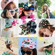 Wholesale-New Casual Unisex Cartoon Fruit Hat Printing Banana Hip Hop Flat Baseball women Cap Sun cap lemon cherry pineapple printing