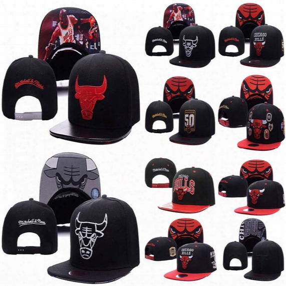 Top Quality Wholesale New Brand Hip Hop Bulls Gorras Snapback Fashion Adjustable Basketball Baseball Cap Hat Bones Chicago Free Shipping