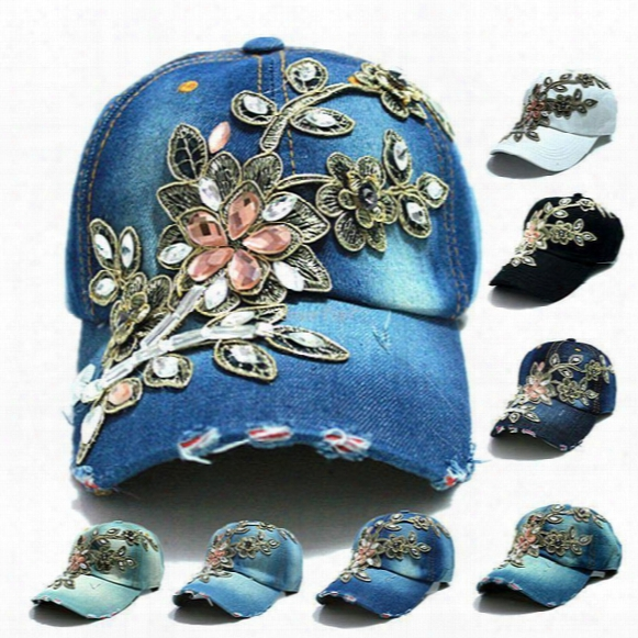 Wholesale 2016 Fall Fashion Denim Baseball Cap Sports Hat Cap Canvas Snapback Caps Hat For Women Good Quality