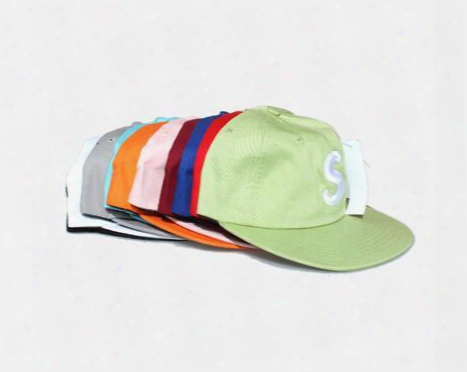 Wholesale- 2017 New Brand Fashion Casquette 5 Panel Baseball Cap Gorras Strapback S Letter Hats Bone Hpi Hop Cap Polo Snapback Hat Dad Hat