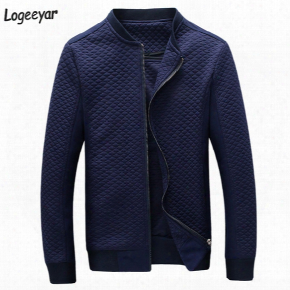 Wholesale- 2017 New Fashion Brand Jacket Men Clothes Baseball Collar Trend Slim Fit Jacket High-quality Casual Mens Jackets And Coats 5xl