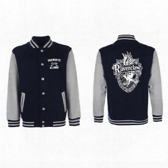 Wholesale- 2017 Ravenclaw Quidditch New Fashion Baseball Jacket 329 For Men Rib Sleeves Stand Collar Hip Hop Cloth For Lovers