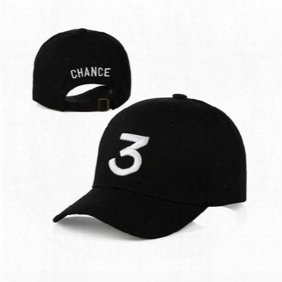 Wholesale- Chance 3 Rapper Baseball Cap Letter  Embroidery Snapback Caps Men Women Hip Hop Hat Street Fashion Gothic Gorro