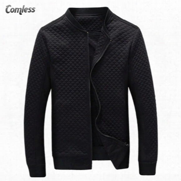 Wholesale- Hot Sale 2016 New Fashion Brand Jacket Men Clothes Baseball Collar Trend Slim Fit High-quality Casual Mens Jackets And Coats 5xl