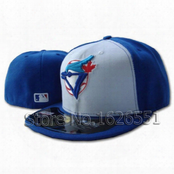 Wholesale-men's Full Closed Toronto Blue Jays Fitted Hat Sport Team Casquette Baseball Cap