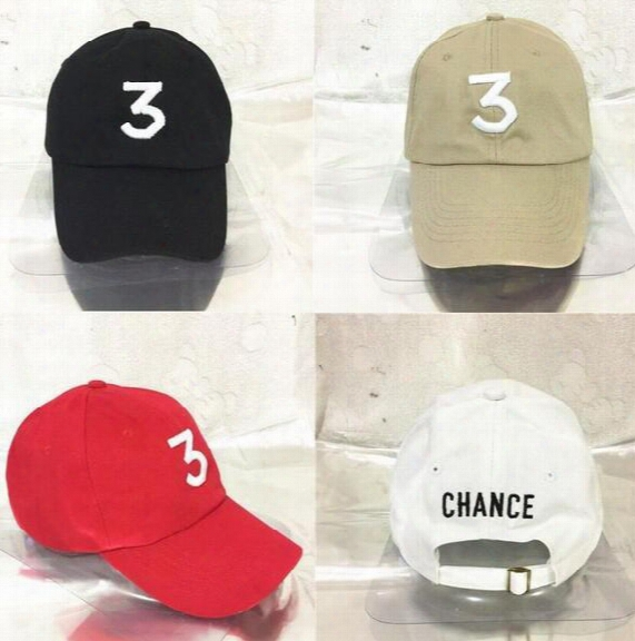 Wholesale- New Chance The Rapper 3 Kanye West Bear Dad Hat Baseball Cap - Adjustable 6 Panel Strapback Black Hip Hop Gorras Bone Casquette