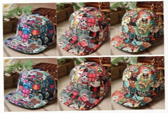 Wholesale-new New Fashion Unisex Three Eyes Vampire Cartoon Graffiti Hip-hop Cap Baseball Hat
