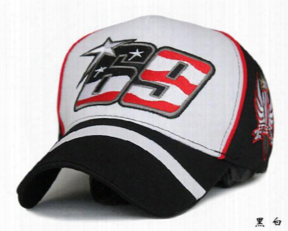 Wholesale-nicky Hayden Number 69 Racing Car Casual Men Women Baseball Cap Leisure Sport Hat Racing Motorcycle Match Memory Cap 0158