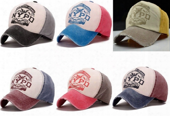 Wholesale Nypd Hot Brand Fitted Hat Baseball Cap Casual Outdoor Sportssnapback Hats Cap For Men Women