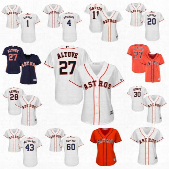Women 2017 Houston Astros 1 Carlos Correa 4 George Springer 11 Evan Gattis 20 Preston Tucker 27 Jose Altuve Carlos Gomez Baseball Jerseys