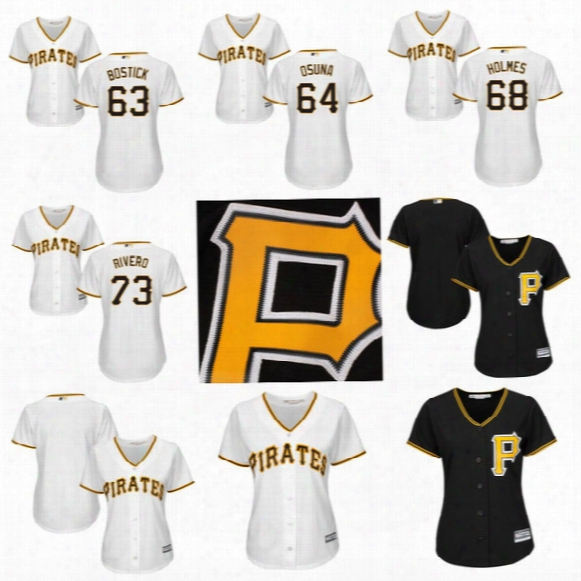Womens Pittsburgh Pirates 2017 Custom Baseball Jerseys 61 Gift Ngoepe 62 Max Moroff 63 Chris Bostick 64 Jose Osuna 66 Dovydas Neverauskas