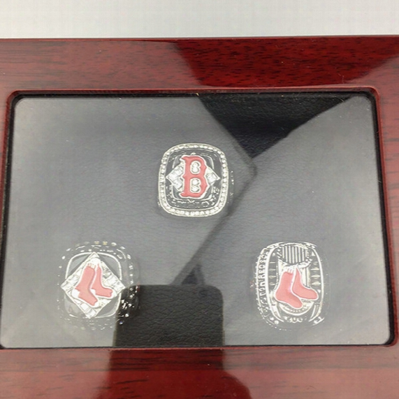 Yiwu Liaobao Hot Sale Rhodium Plated Alloy Jewelry 2004 2007 2013 Boston Red Sox Mlb World Series Championship Ringz Sets