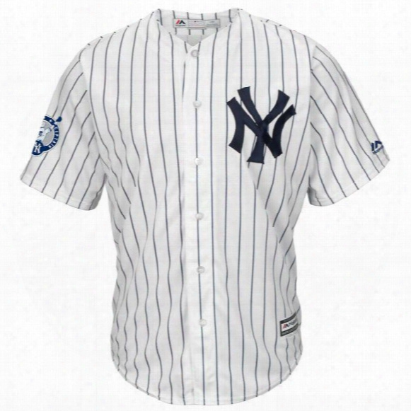 Youth New York Yankees Derek Jeter Mickey Mantle Gary Sanchez Babe Ruth Majestic Alternate Cool Base Player Jersey White Navy Gray
