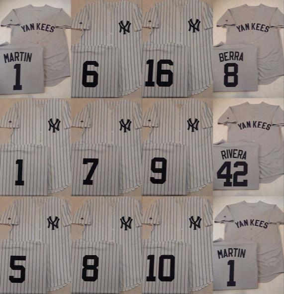 1 Billy Martin 5 Joe Dimaggio 6 Joe Torre Mickey Mantle Yogi Berra 9 Roger Maris Phil Ruzzuto New York Yankees Throwback Jerseys