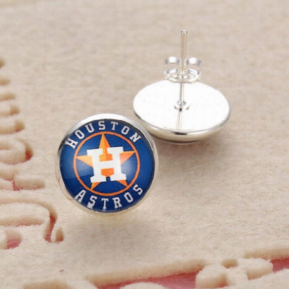 10psirs Mlb Houston Astros Sports Team Jewelry Stud/pendant Earrings For Women Jewelry Earrings Gift Baseball