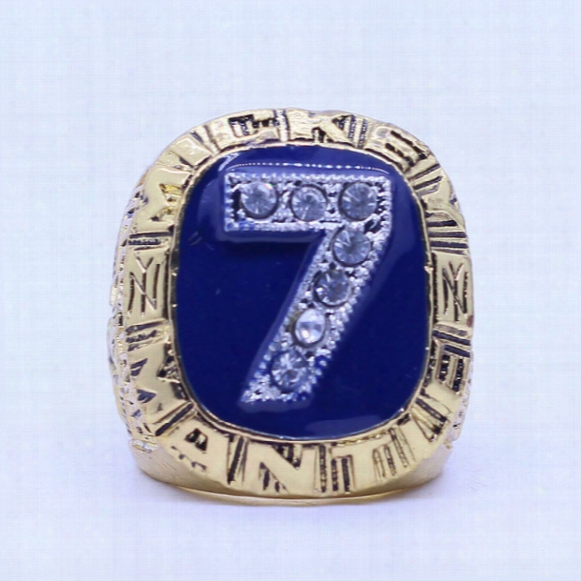 1956 Mickey Mantle Baseball Zinc Alloy Custom Sports Autograph Copy World Championship Ring For Men
