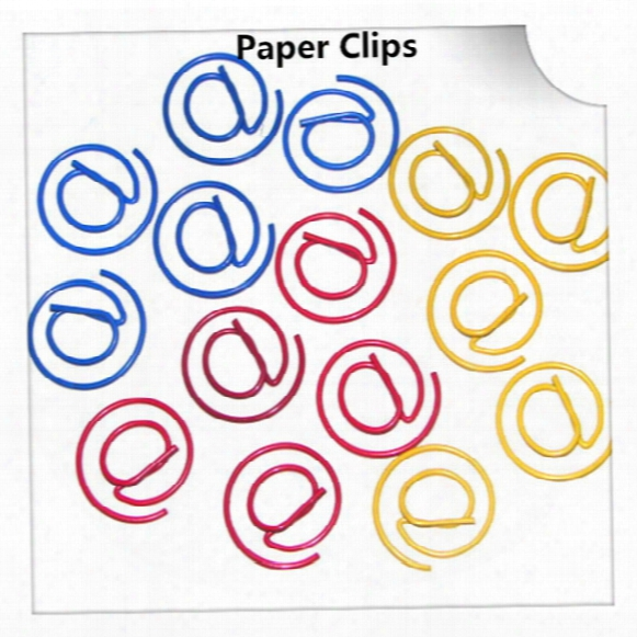 200pcs @ Shape Paper Clips Creative Bookmark Memo Clip Stationery For Office School Home Use Xmas Best Gifts