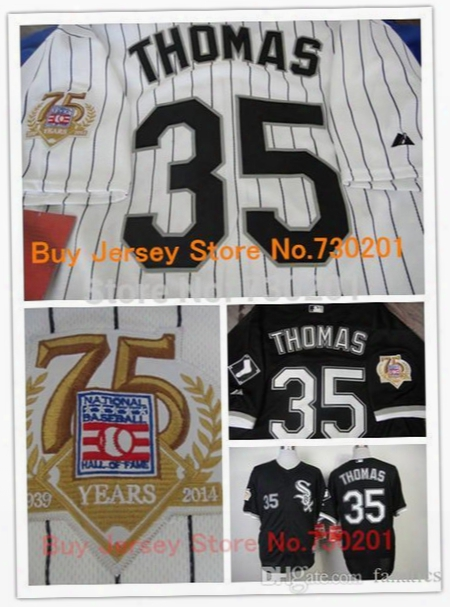 2015 New 2014 New Frank Thomas Jersey,cheap Chicago White Sox 35# Frank Thomas Baseball Jersey, W/75th Anniversary Patch,hall Of Fame
