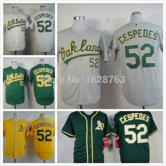 2015 New 2015 New Cheap Stitched Oakland Athletics Jersey # 52 Yoenis Cespedes Men&#03 9;s Baseball Jersey