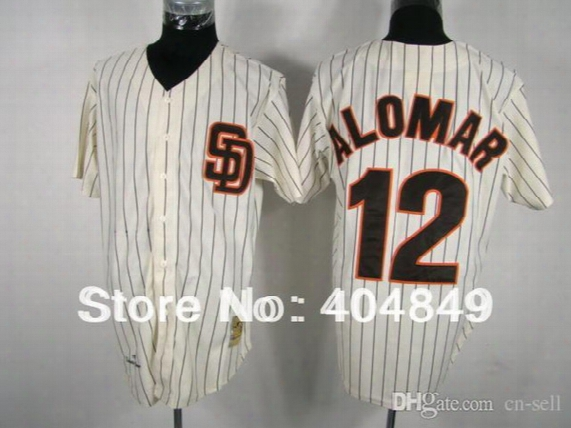 2015 New Aa+ 12 Multi Type Roberto Alomar Jersey, Padres White Stripe Cooperstown Authentic Jersey, Custom Baseball Free Shipping.