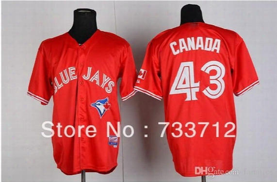 2015 New New Top Quality Free Shipping, Toronto Blue Jays #43 Canada Day
