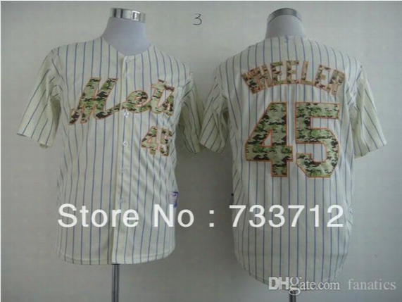 2015 New New Top Quality Free Shipping,new York Mets #45 Wheeler 2013 S Cool Base White Jersey Size:m-