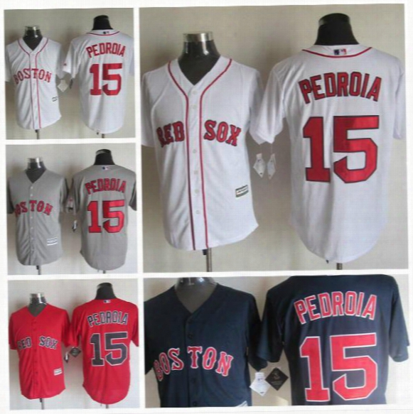 2016 Boston Red Sox 15 Dustin Pedroia Jersey White Red Gray Blue Stitched Jerseys Flexbase Dustin Pedroia Jersey Fast Shipping