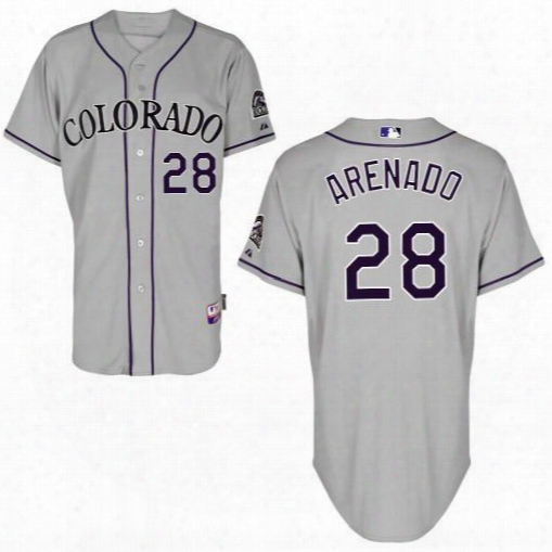 2016 Colorado Rockies #28 Nolan Arenado Grey Cool Base Baseball Jersey,wholesale Personalized/ Customized Jerseys,wholesale