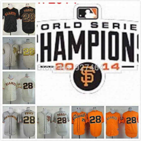 2016 New Cheap Stitched Men's Baseball Jersey San Francisco Giants/sf Giants 28 Buster Posey Baseball Jerseys /shirt Embroidery Logos