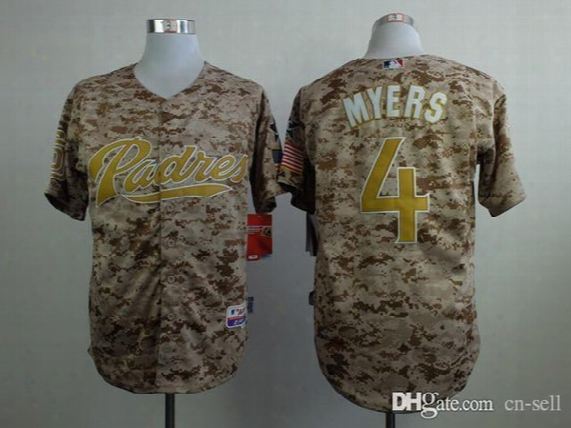 2016 New Mens Baseball Jerseys San Diego Padres Jerseys #4 Wil Myers Camo Jersey,accept Customized,mixed Orders,stitched Name And Number