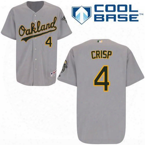 2016 Oakland Athletics #4 Coco Crisp Grey Cool Base Baseball Jerseys,wholesale Personalized/customized Jerseys,wholesale