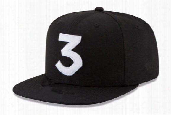 2016 Popular Chance The Rapper 3 Hat Cap Black Letter Embroidery Baseball Cap Hip Hop Streetwear Strapback Snapback Sun Hat Bone