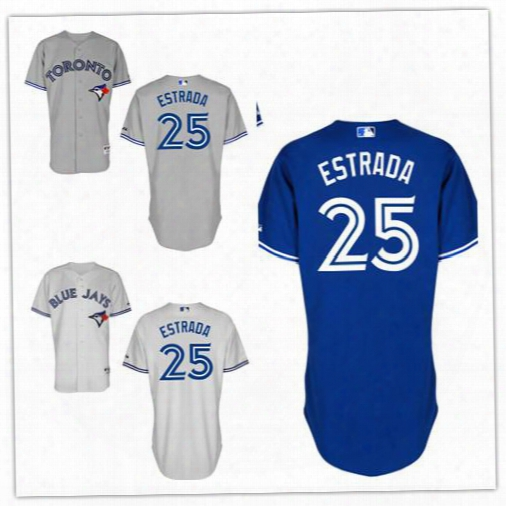 2016 Toronto Blue Jays Jersey 25 Marco Estrada Jersey White Grey Blue Cool Stitched Baseball Jersey Embroidery Logo