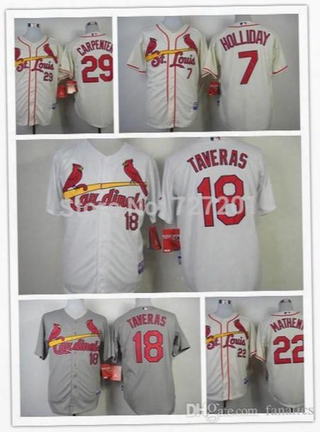 2016 Wholesale Cheap Men's Baseball Jersey St.louis  Cardinals #18 Oscar Taveras Cool Base Jersey,embroidery Logo,size M-xxxl