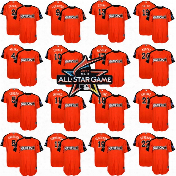 2017 All-star Justin Turner Ender Inciarte Zack Cozart Yadier Molina Corey Seager Josh Harrison Dj Lemahieu Marcell Ozuna Joey Votto Jerseys