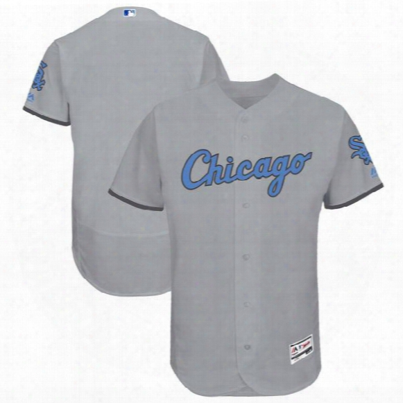 2017 Chicago White Sox Majestic Gray Father's Day Flex Base Stitched Can Customed Any Name Any Number