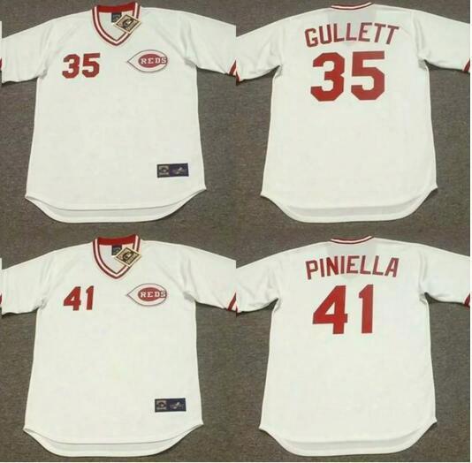 2017 Cincinnati Reds Men's Bobby Tolan Ken Griffey Tom Browning Don Gullett Norm Charlton Lou Piniella Throwback Baseball Jerseys